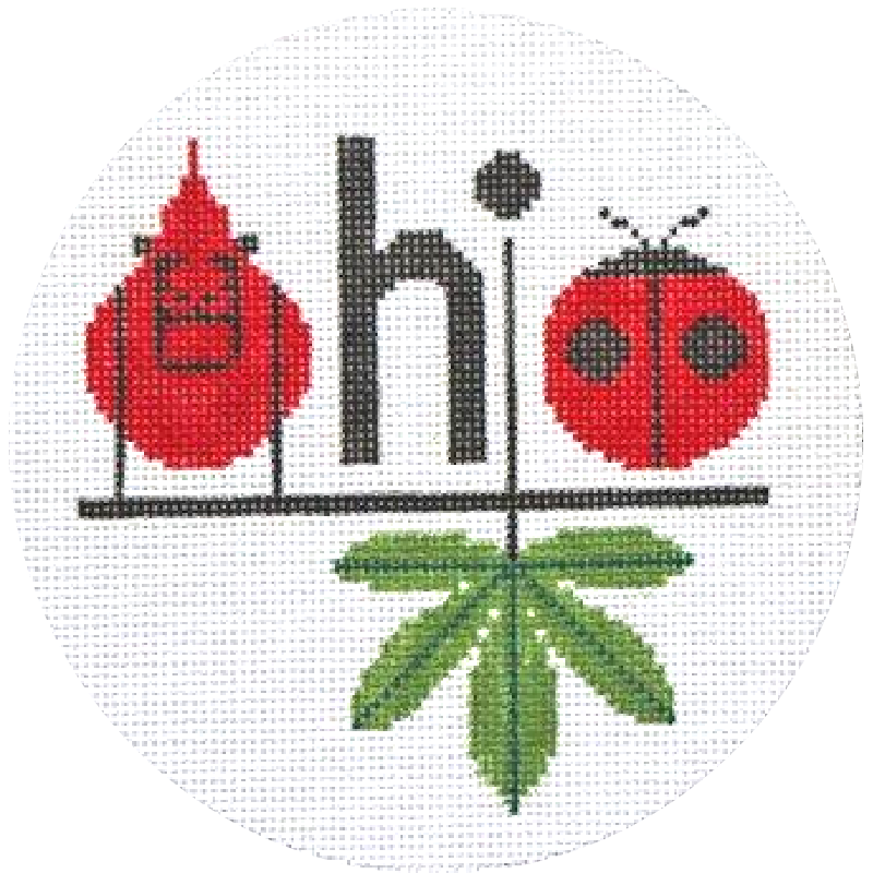 Charley Harper Ohio Needlepoint Ornament