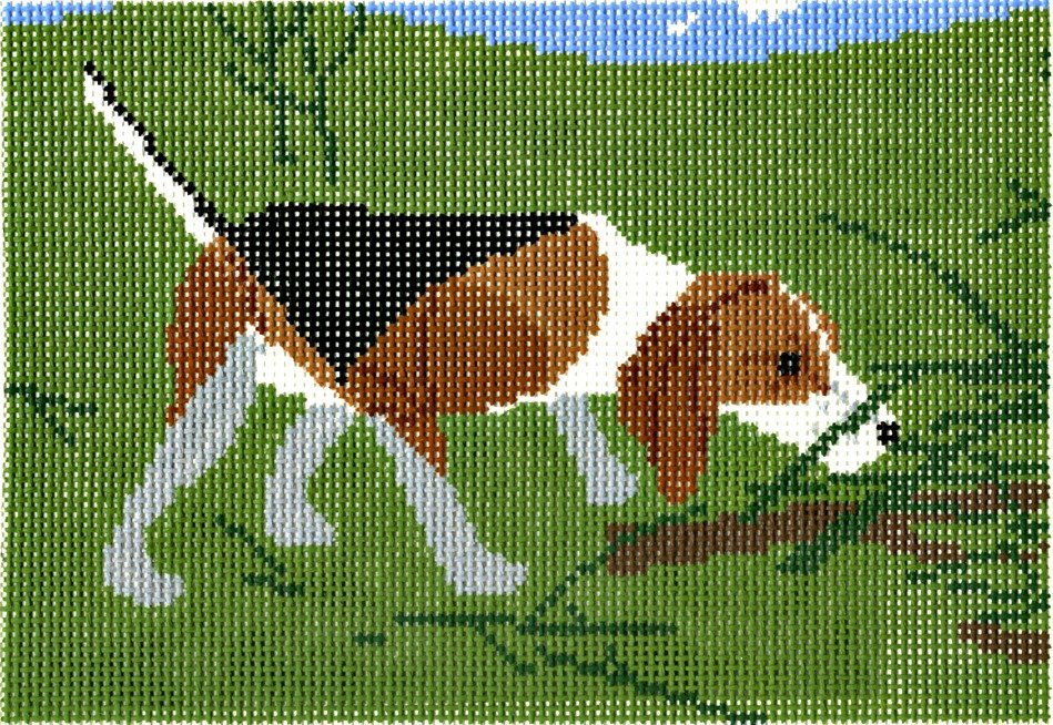 Charley Harper Needlepoint Beagle  - Canvas Only