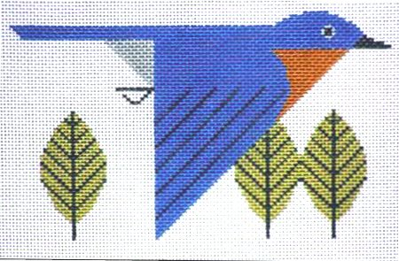 Charley Harper Needlepoint Bluebird - Canvas Only