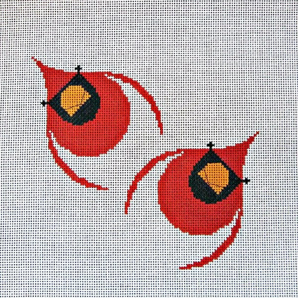 Cardinals in Flight  - Canvas Only