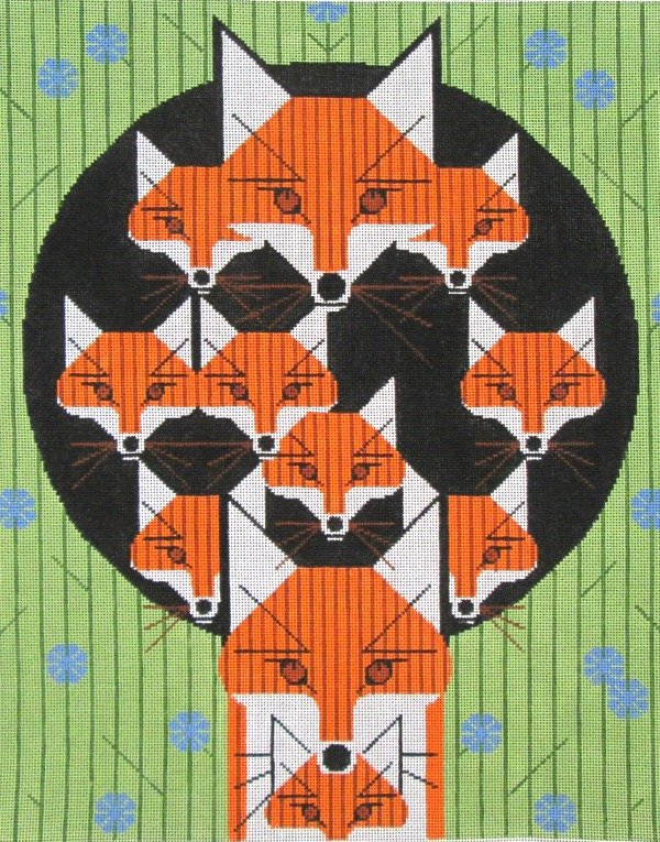Charley Harper Needlepoint Foxsimilies - Canvas Only