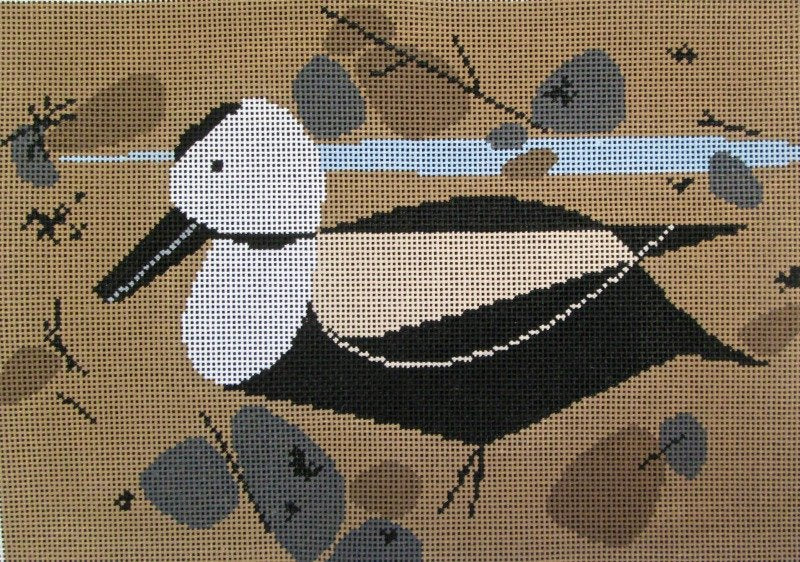Charley Harper Needlepoint Labrador Duck - Canvas Only