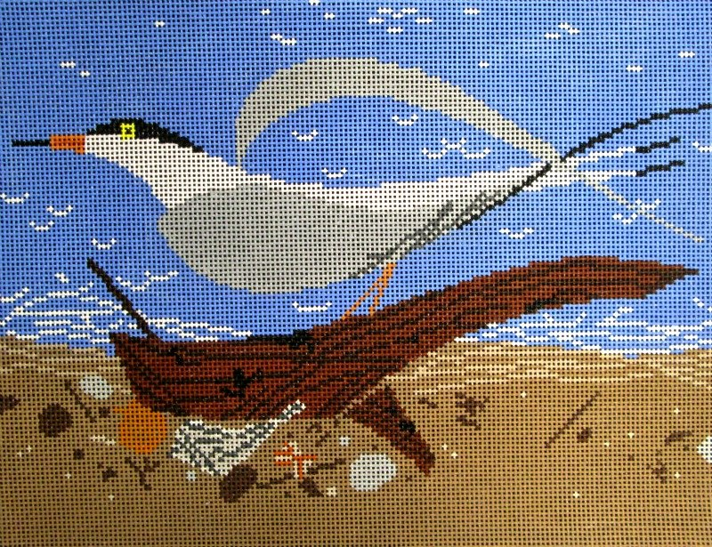 Charley Harper Needlepoint Tern Scape  - Canvas Only