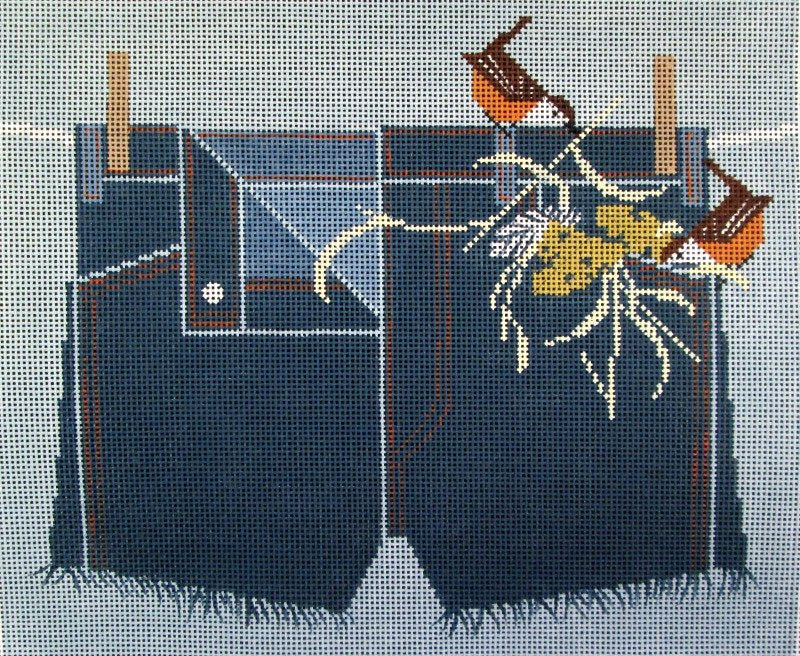 Charley Harper Needlepoint Wrenovation - Canvas Only