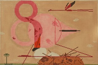 Charley Harper Needlepoint Flamingos - Canvas Only