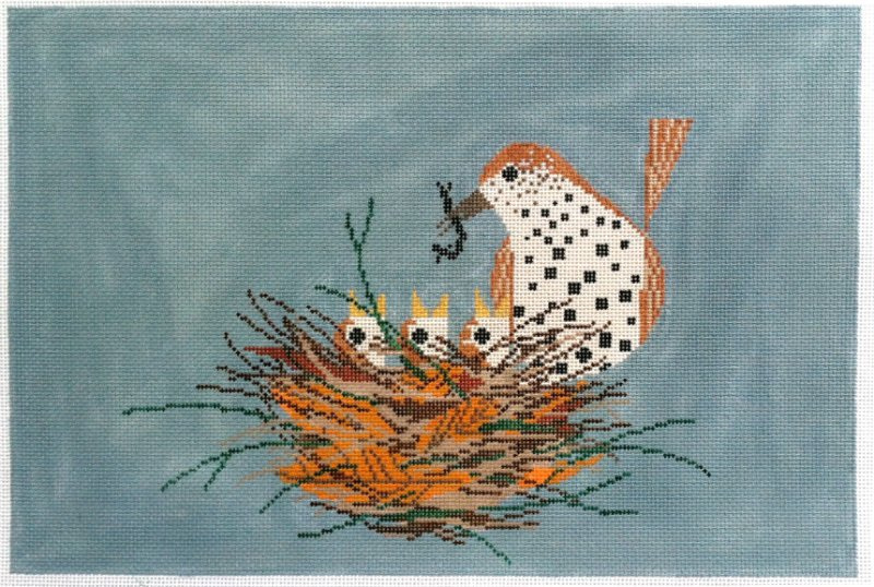 Charley Harper Needlepoint Chorus Line - Canvas Only