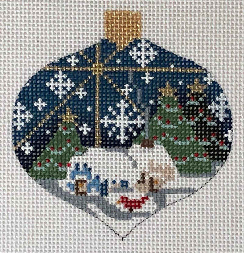 Christmas Evening needlepoint ornament by Danji Designs