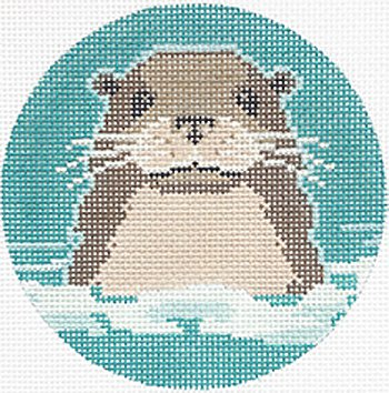 Otter Ornament  - Canvas Only