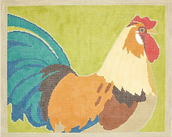 Rooster by Cindy Lindgren - Canvas Only