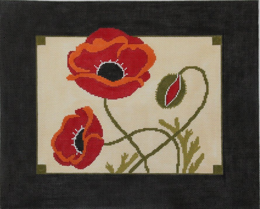 Poppies by Cindy Lindgren  - Canvas Only