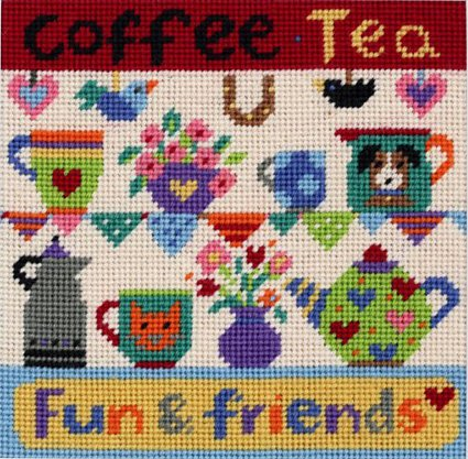 Coffee with Friends Needlepoint Kit