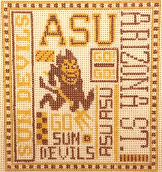 College Needlepoint - ASU - Canvas Only