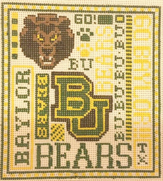 College Needlepoint - Baylor College - Canvas Only