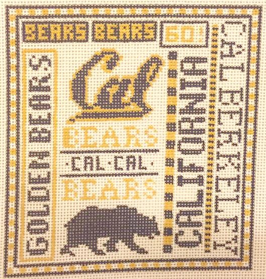 College Needlepoint - UC Berkeley - Canvas Only