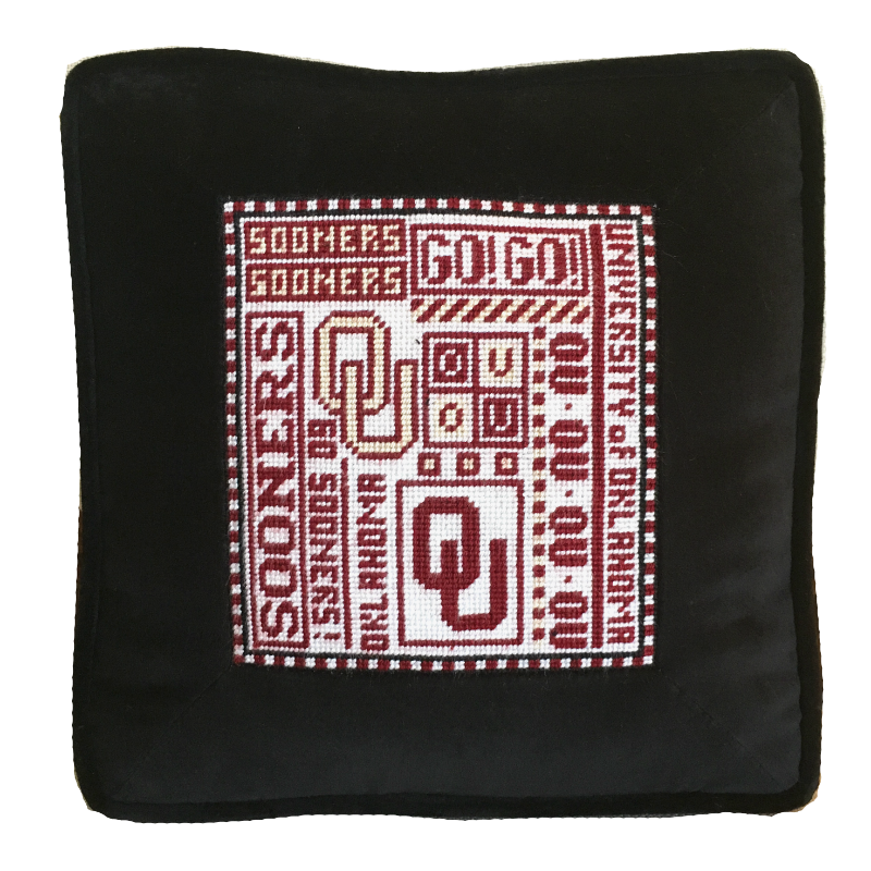 College Needlepoint - Oklahoma - Canvas Only