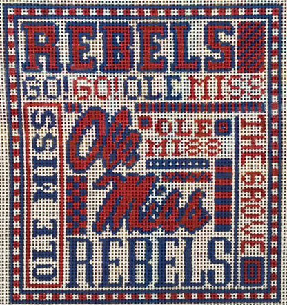 College Needlepoint - Ole Miss - Canvas Only