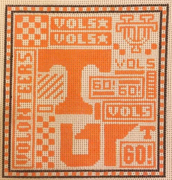 College Needlepoint - Tennessee Volunteers - Canvas Only