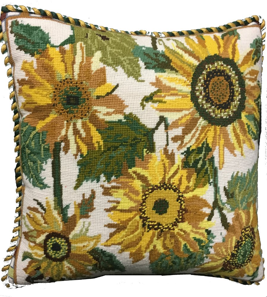 Cream Sunflower Dance Primavera Needlepoint