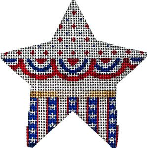 Buntings stars on stripes - Canvas Only