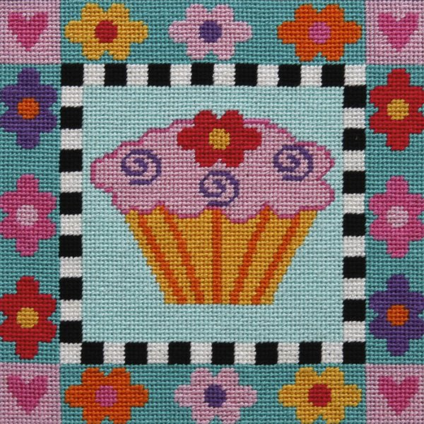 Easy Needlepoint Kit Cupcake