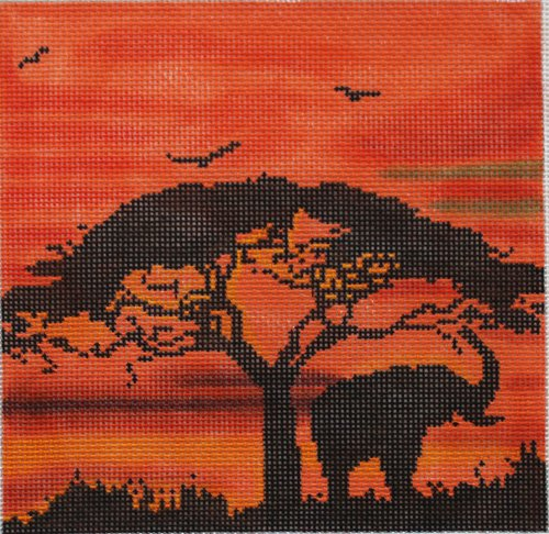 African Sunset - Canvas Only