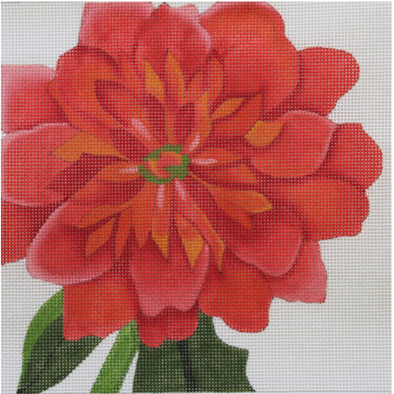 Dahlia needlepoint by Julie Mar