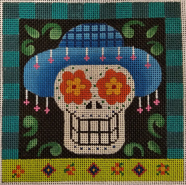 Day of the Dead Halloween Needlepoint - Canvas Only