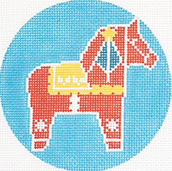 Dela Horse Ornament    - Canvas Only