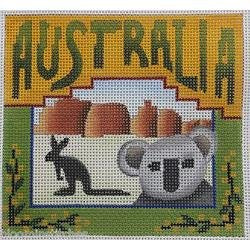 Australia Needlepoint - Canvas Only