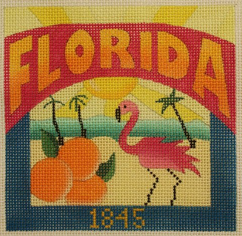 Florida Needlepoint - Canvas Only