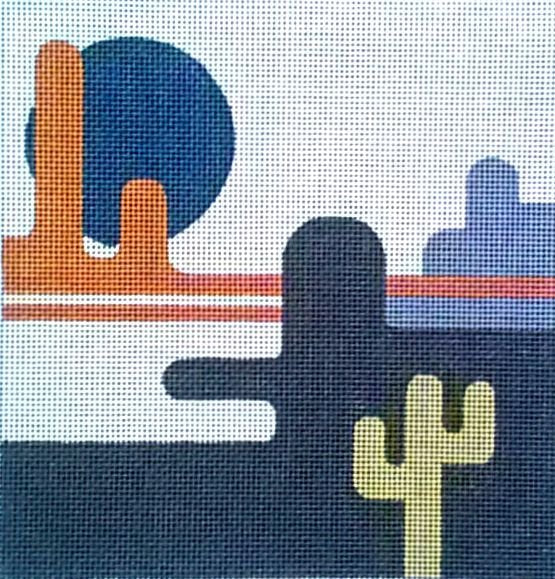 Canyon Desert Needlepoint - Canvas Only