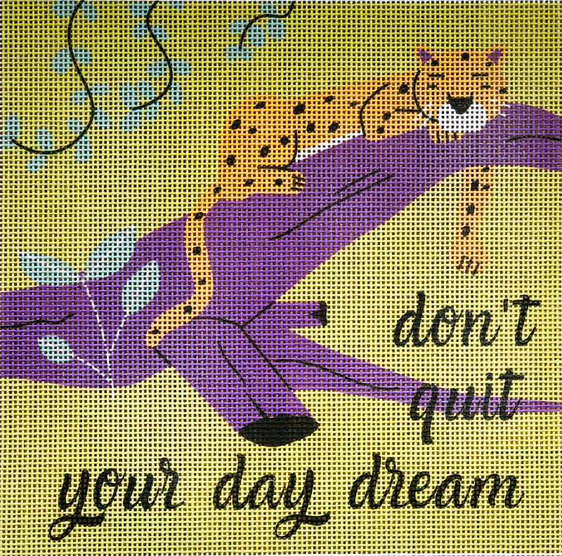 Don't Quit Your Daydream Small Needlepoint Kit