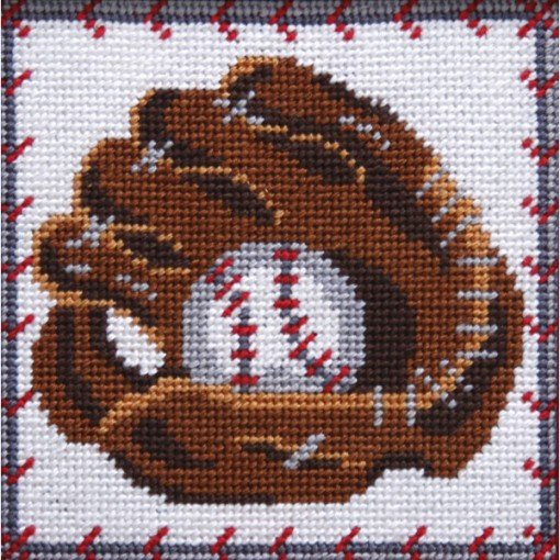 Easy Needlepoint Kit Baseball Glove