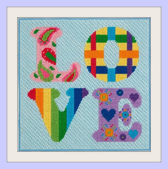 Easy Needlepoint Kit<BR>Love