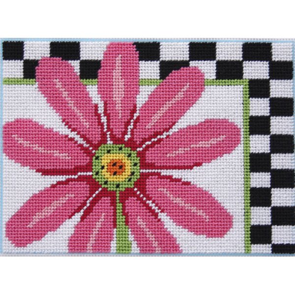 Easy Needlepoint Kit<BR>Pink Daisy
