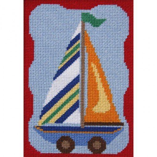 Easy Needlepoint Kit Sailboat