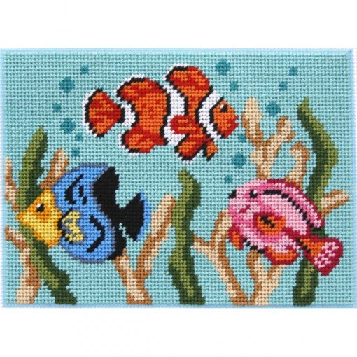Easy Needlepoint Kit Tropical Fish