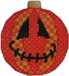 Jack-o-patches Halloween Needlepoint  Ornament - Canvas Only
