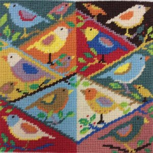 Birds in a Tree Needlepoint Kit