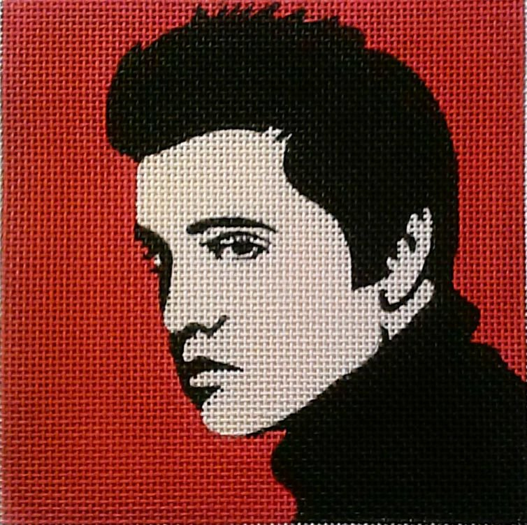 Elvis Pop Art Needlepoint - Canvas Only
