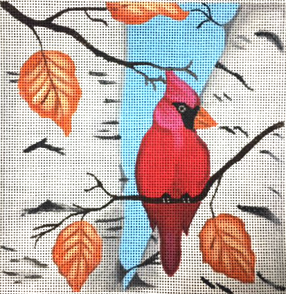 Fall Cardinal - Canvas Only