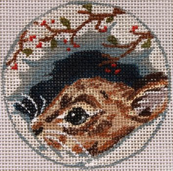 Field mouse needlepoint ornament  - Canvas Only