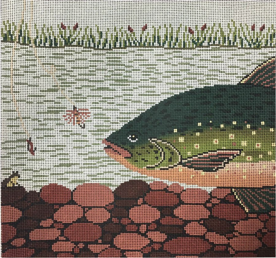 Trout Needlepoint - Canvas Only