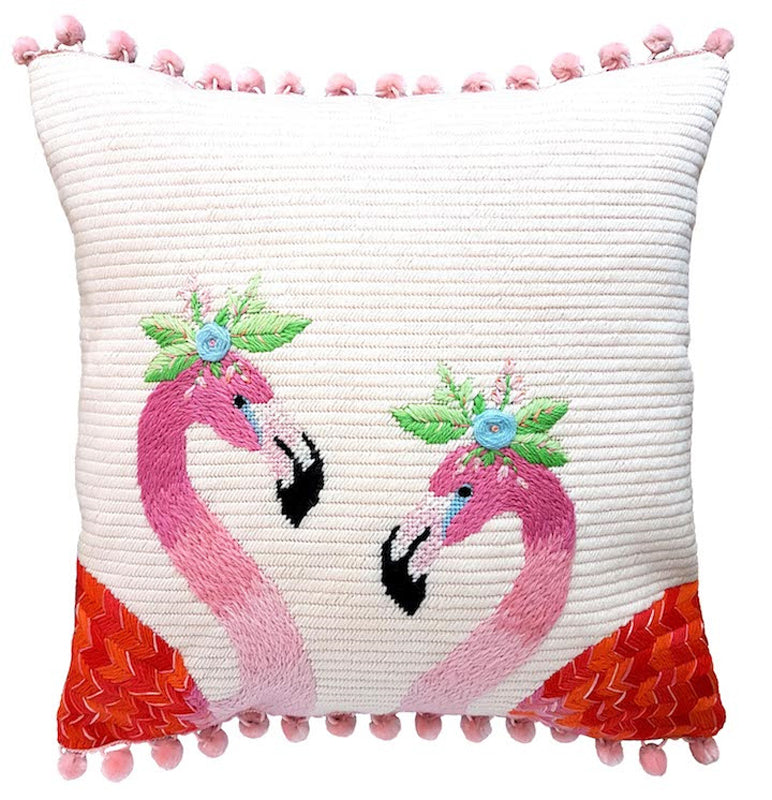 Flamingos Contemporary Needlepoint Kit