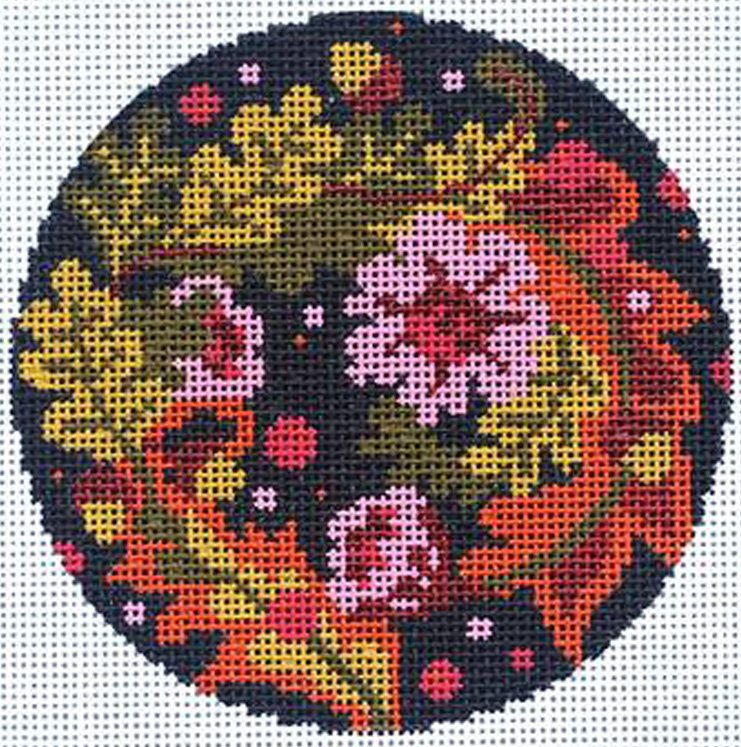 Abigail Cecile Floral Equinox needlepoint ornament