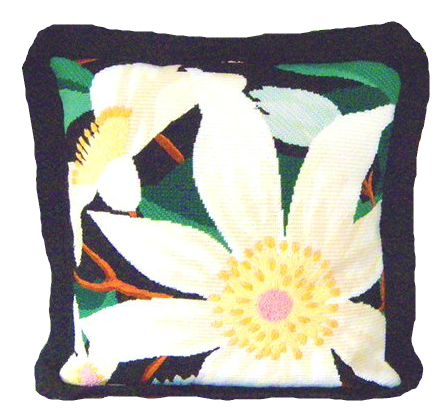 Clematis contemporary needlepoint kit