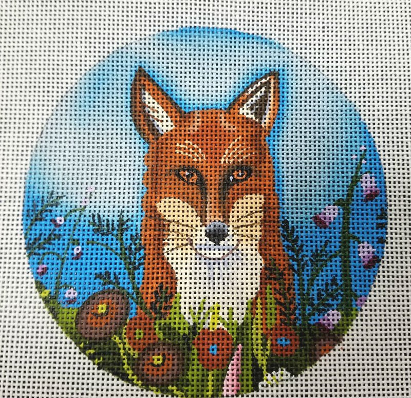 Fox in the Flowers - Canvas Only