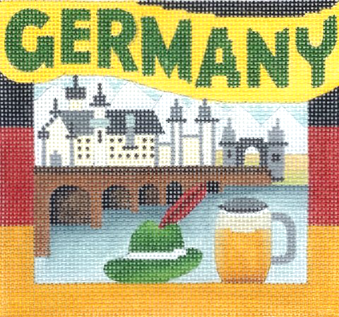 Germany Needlepoint - Canvas Only