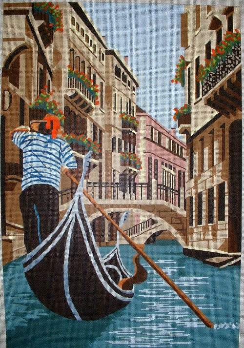 Gondolier Needlepoint - Canvas Only