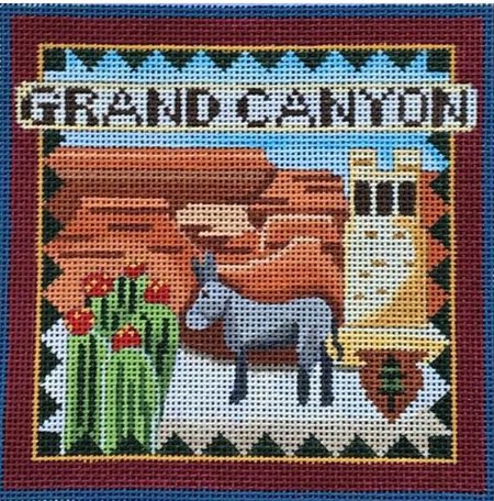 Grand Canyon needlepoint by Denise De Rusha  - Canvas Only